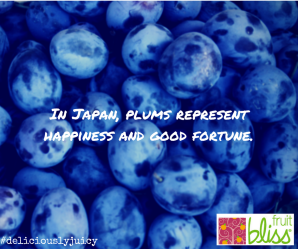 In Japan, plums represent happiness and good fortune.